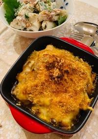 市販ミートソースで♪簡単野菜のチーズ焼き