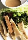 高野豆腐とバンバンジーソース