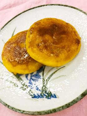 かぼちゃ餅の甘辛焼き