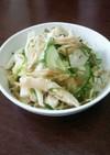 しっとり茹で鶏の薬味たっぷり和風サラダ。