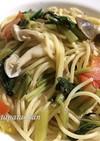 簡単1品♡小松菜とツナのパスタ