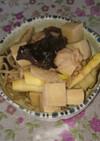 タケノコと肉と高野豆腐の炒め煮