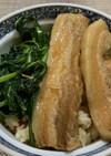 豚バラ鳥釜飯丼