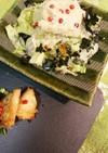 しらすわさび風味のゴマドレポテサラ