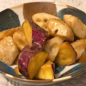 蓮根とサツマイモのあんかけ風炒め