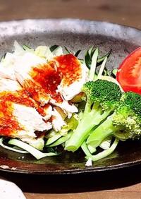 鶏胸肉が最高に柔らかいヨダレ鶏 筋肉飯