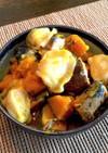 水餃子と鯖缶で☆かぼちゃの煮つけ
