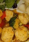肉団子・パプリカ・ブロッコリーの餡掛け煮