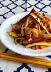 豚肉と新さつま芋のきんぴら*お弁当・副菜