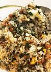 夏バテ防止に 納豆と紫蘇のチャーハン