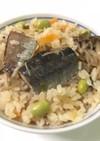 秋刀魚と枝豆の炊き込みご飯