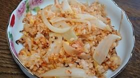 紅鮭とオニオンのトマト炒飯