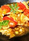 豚肉とトマトで和三盆糖蜜の生姜焼き