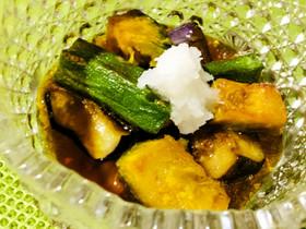 ♪今旬の野菜❗️茄子オクラかぼちゃ煮浸し