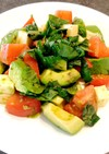糖質制限★トマトとアボカドのバジルサラダ