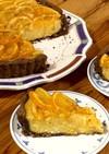 マンゴーとオレンジのチーズタルト
