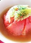 丸ごとトマトスープ(品種・桃太郎使用)