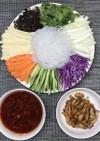 乾燥こんにゃくパスタで中華料理の東北冷菜