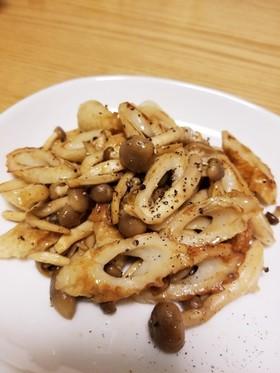 ご飯がすすむ⭐しめじと竹輪のマヨポン炒め