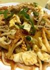 野菜炒め キムチ入り ガチ盛り大皿料理
