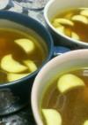 アスパラとベーコンのカレーコンソメスープ