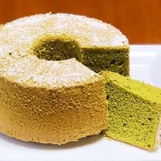 米粉でもっちり♪抹茶シフォンケーキ