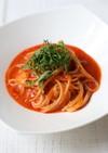 大葉トマトソースのスパゲッティ