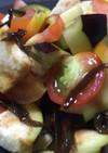 夏野菜の残り物サラダ