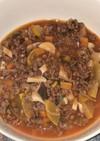 大豆挽き肉とズッキーニのボロネーゼ