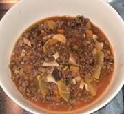 大豆挽き肉とズッキーニのボロネーゼの写真