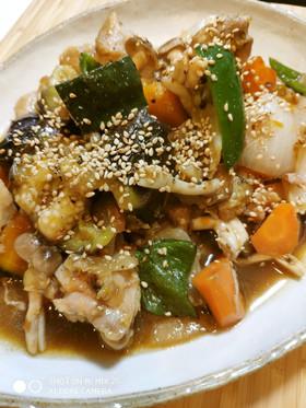 鶏&カラフル野菜甘酢炒