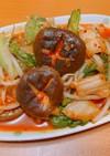 椎茸とレタスのキムぽん炒め