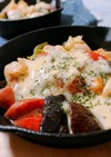 味噌とチーズの焼きサラダ風