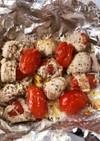 肉巻きトマトのホイル焼き