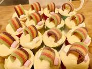 ユニコーンレインボーカップケーキの写真