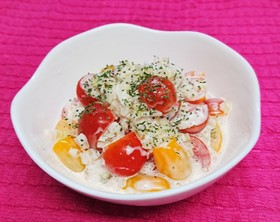 トマトと玉ねぎの簡単サラダ