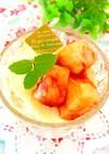 桃とバニラアイス(メロン、西瓜、梨)