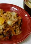 豚肉とタマネギ炒め&タマネギホウレン味噌
