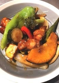 夏野菜の黒酢合え