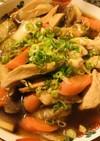 白菜たっぷりの鶏肉スキヤキ風煮込み
