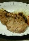 減塩 豚ロース肉のステーキ