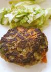 野菜たっぷりハンバーグ
