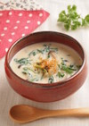 vol.8 大根と春菊の酒粕豆乳スープ