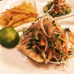 香味野菜たっぷり♫映える魚ソテー