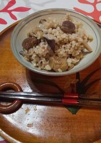 ダイエット⑤栗ときのこの玄米炊き込み御飯