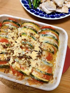 夏野菜♡ズッキーニとトマトのチーズ焼き