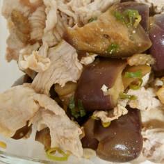[簡単常備菜]豚肉と茄子のさっぱり和え