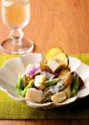 根菜とマメのわさびサラダ