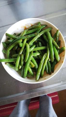 いんげん豆のしょうが醤油炒め