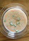 煎り酒と豆乳のスープ